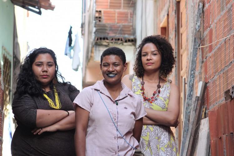 Chapa Nossa Cara é formada por Louise Santana, Lila M e Adriana Gerônimo. O primeiro mandato coletivo de Fortaleza (Foto: Divulgação)