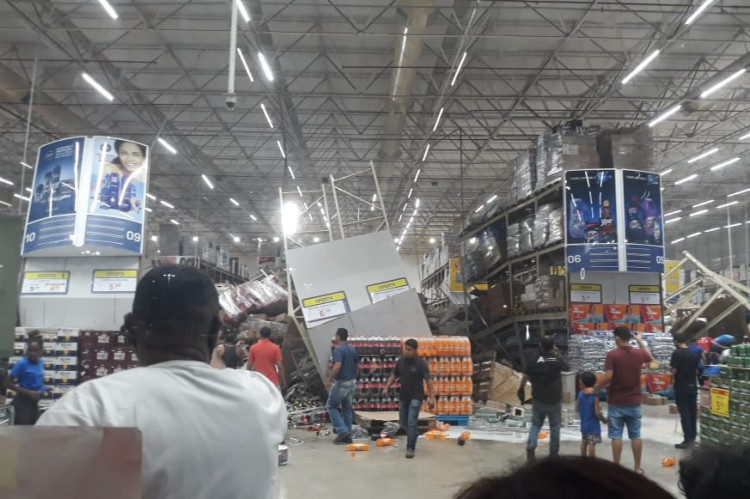 Desabamento de prateleiras em supermercado no Maranhão deixa uma pessoa morta e uma série de feridos