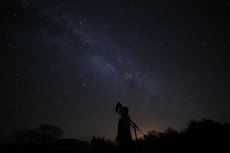 A Via-Láctea vista do Ceará (Foto: Hilbernon Almeida)