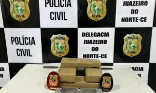 A PCCE apreendeu quatro quilos de maconha e 487 gramas de cocaína entre os dois dias