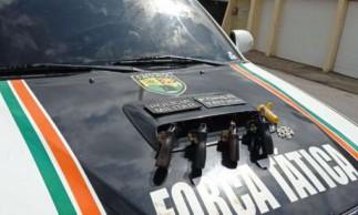 armas, drogas e munições foram apreendidos com bando suspeito no interior do Ceará