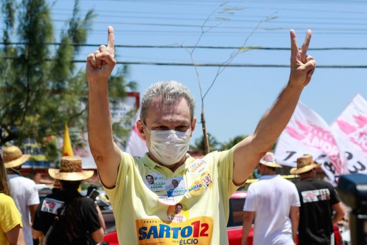 José Sarto aparece em terceiro na pesquisa O POVO/Datafolha (Foto: Barbara Moira)