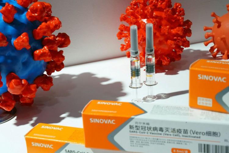 Caixas com potencial vacina da Sinovac contra Covid-19 em Pequim.04/09/2020 REUTERS/Tingshu Wang (Foto: Reuters/Direitos reservados)