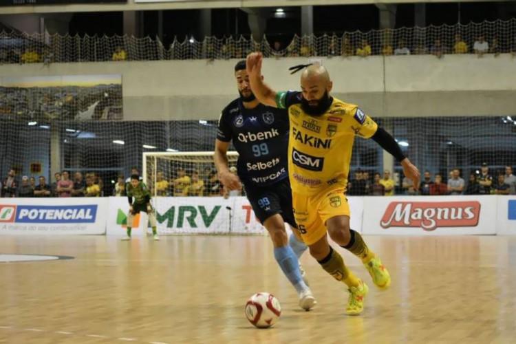 LNF: Tubarão e Jaraguá fazem duelo direto pela zona de classificação (Foto: Paulo Sauer / Jaraguá Futsal)