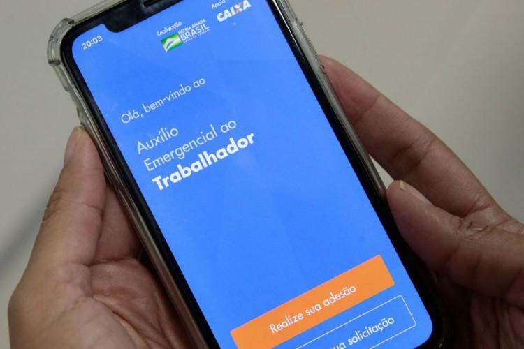 Lançamento do aplicativo CAIXA Auxílio Emergencial (Foto: Marcello Casal JrAgência Brasil)