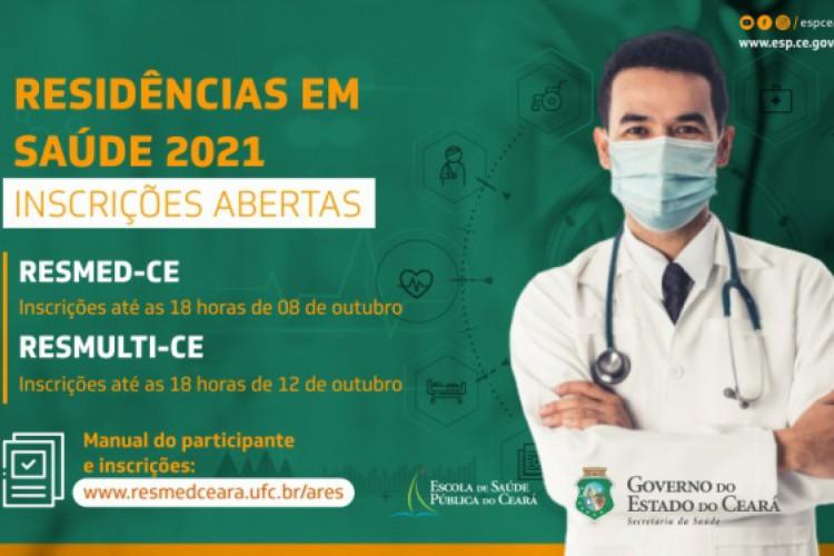 As inscrições ocorrem pela Internet até as 18 horas do dia 12 de outubro. (Foto:  Divulgação/ESP-CE)