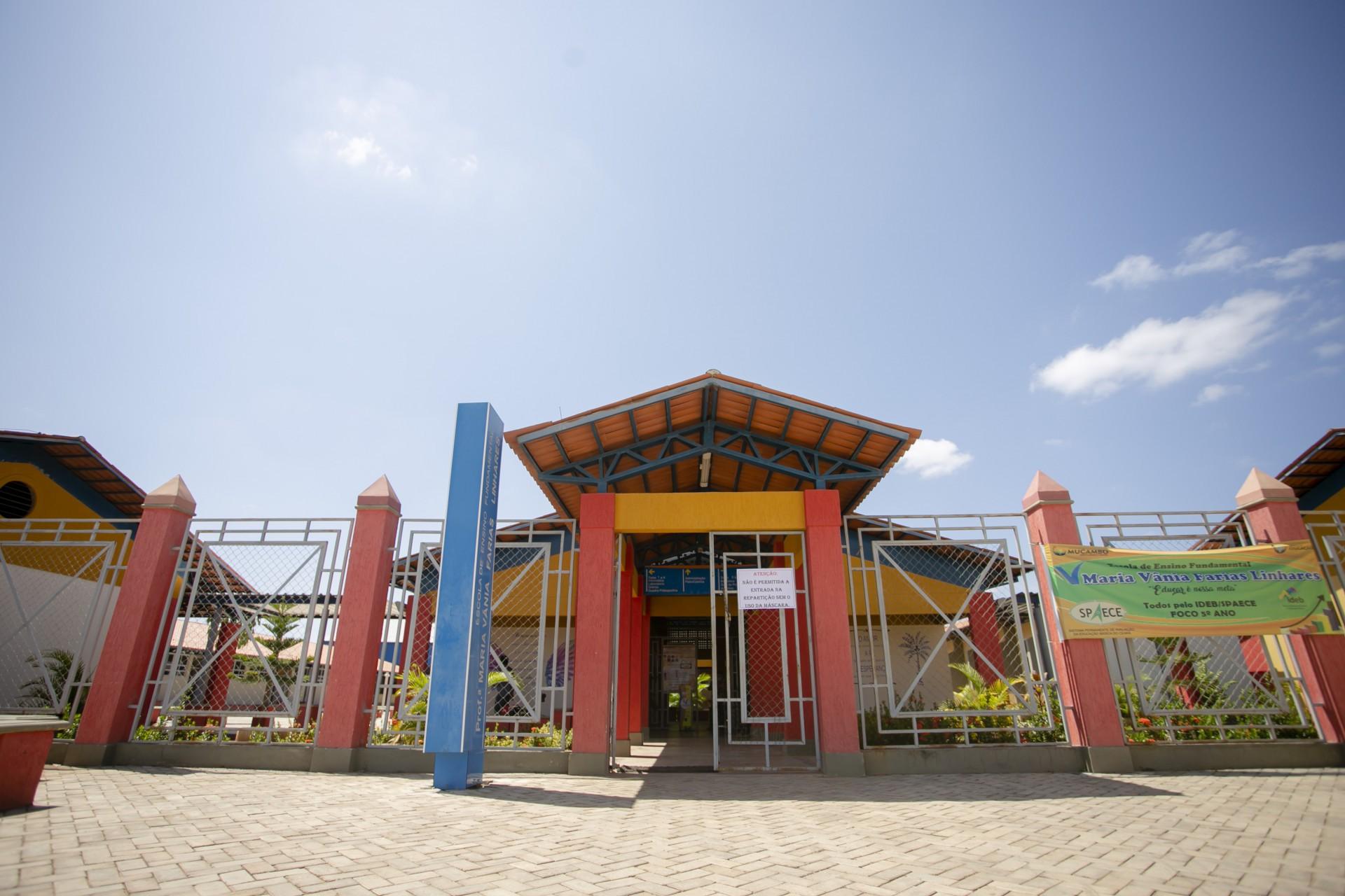 Escola Maria Vania, em Mucambo, município melhor avaliado do Brasil do 1º ao 5º ano no Índice de Desenvolvimento da Educação Básica (Ideb)