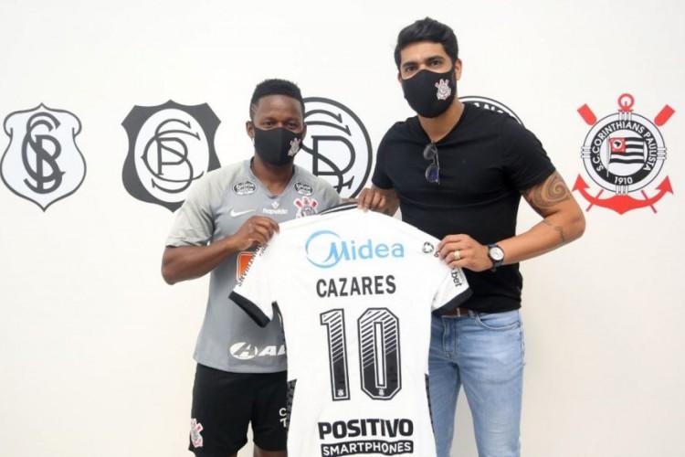 Cazares é liberado do Corinthians e está livre para assinar com qualquer outro clube  (Foto: DIVULGAÇÃO/CORINTHIANS)