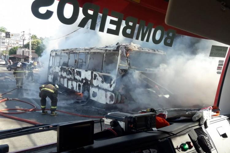 Fogo foi debelado pelo Corpo de Bombeiros  (Foto: divulgação/Corpo de Bombeiros )
