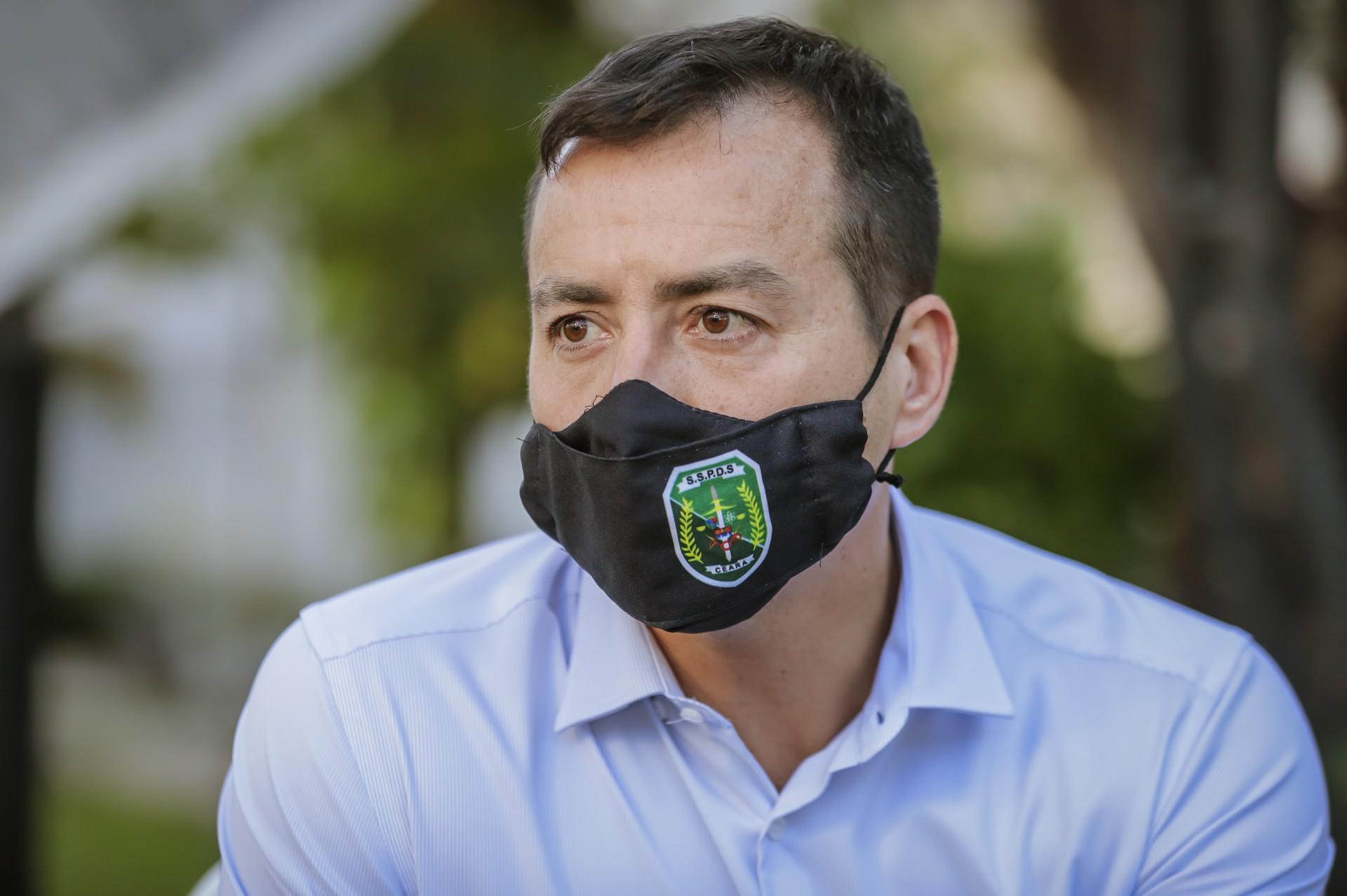 Sandro Caron, secretário da Segurança Publica do em visita ao Grupo de Comunicação O POVO, em outubro de 2020