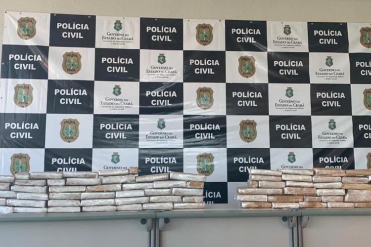 Mais de 50 quilos de maconha apreendidos (Foto: Divulgação/SSPDS)