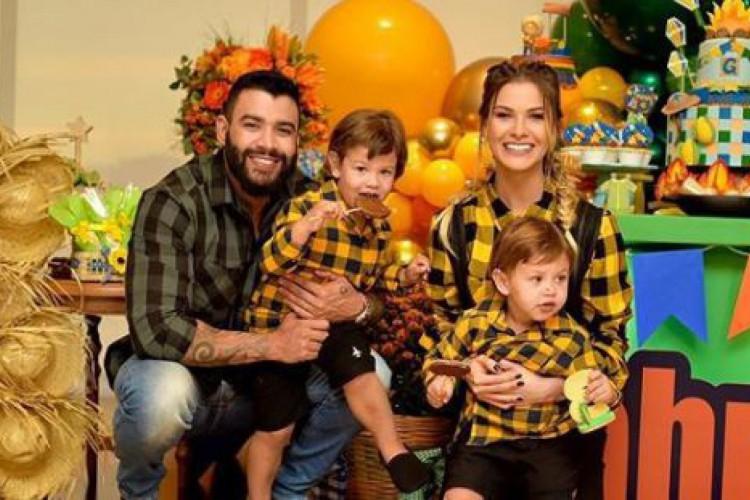 Família reunida na comemoração do aniversário de três anos de Gabriel. (Foto: Reprodução/Instagram)