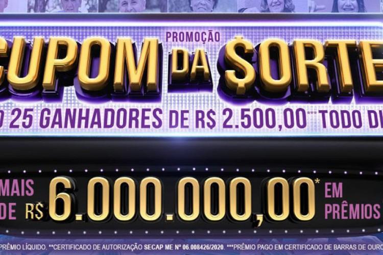 O segundo sorteio da Tele Sena de Aniversário 2020 foi divulgado na noite de hoje, domingo, 11 de outubro (11/10), às 20 horas, pelo SBT (Foto: Divulgação/SBT)