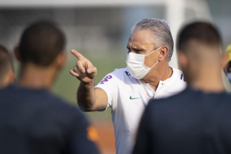 Tite fala sobre escolha de Thiago Silva como capitão do Brasil diante do Peru, pelas Eliminatórias da América do Sul (Foto: Lucas Figueiredo/CBF)