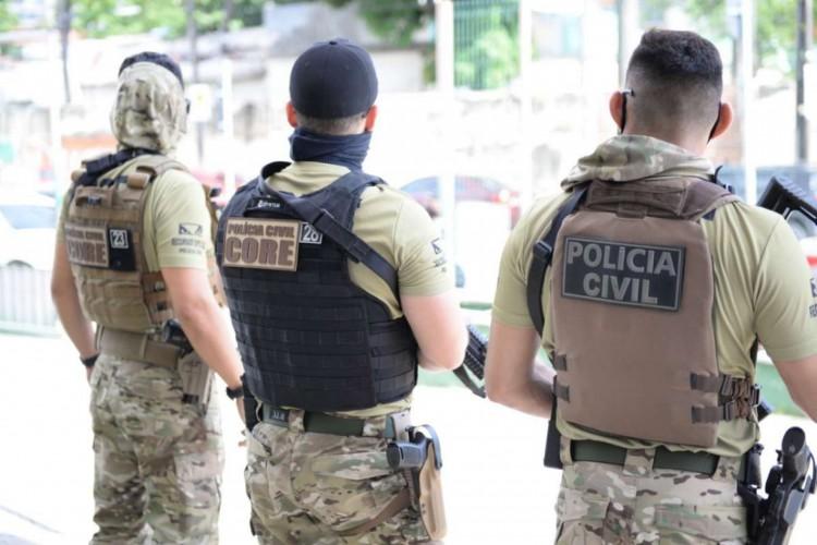 A empreitada contou com efetivo de 90 policiais e ocorreu nos bairros que fazem parte da  Área Integrada de Segurança 8 (AIS 8) da Capital (Foto: Divulgação SSPDS)