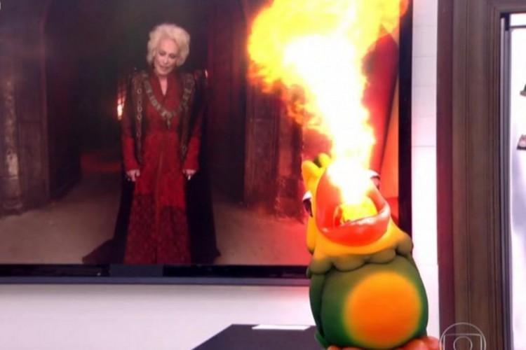 Tom Veiga dá vida ao papagaio Louro José, do programa Mais Você, da TV Globo, apresentado por Ana Maria Braga (Foto: Reprodução / TV Globo)