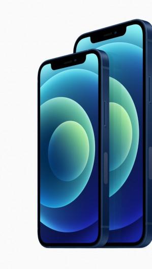 iPhone 12 mini comparado com o iPhone 12 regular (Foto: Reprodução/Apple)