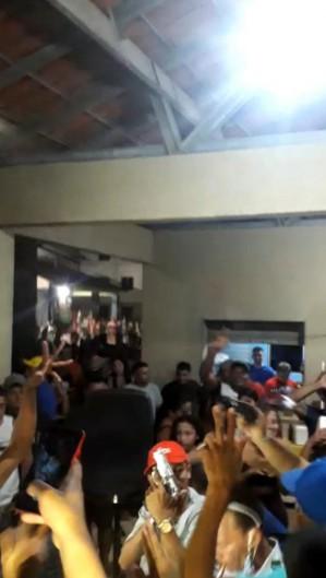 A festa aconteceu no condomínio localizado no Ancuri  (Foto: foto: reprodução/vídeo )