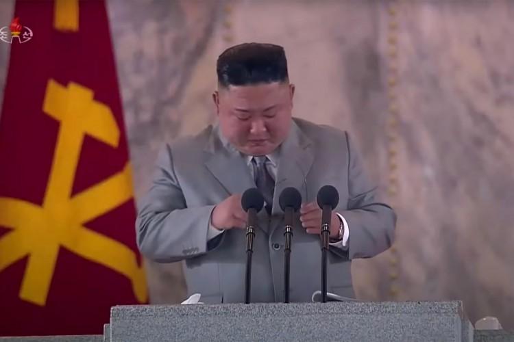 Líder da Coreia do Norte, Kim Jong-un, durante pronunciamento (Foto: AFP)