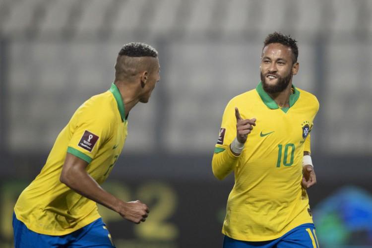 Neymar marca três vezes e seleção vence Peru nas Eliminatórias (Foto: Lucas Figueiredo/CBF)