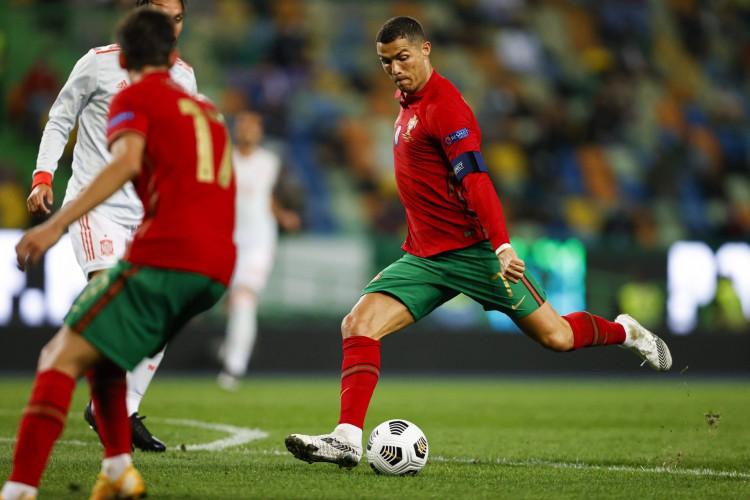 Cristiano Ronaldo está afastado na Seleção Portuguesa por ter sigo diagnosticado com Covid-19 (Foto: Diogo Pinto/FPF)