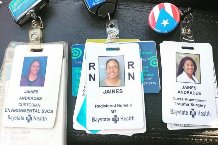 Jaines passou de faxineira para enfermeira com supervisão médica e foi promovida, em setembro, para o cargo de enfermeira no setor de traumas sem supervisão (Foto: Reprodução/Facebook/Jaines Andrades)