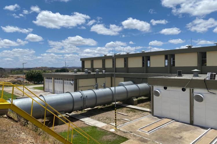 Segundo a Secretaria de Recursos Hídricos (SRH), a estação pode garantir segurança hídrica para 4,5 milhões de pessoas na Região Metropolitana de Fortaleza (Foto: Divulgação/SRH)