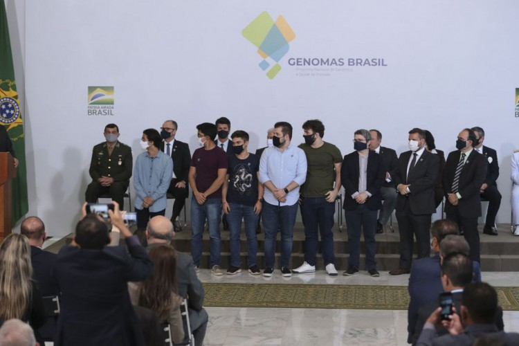 O presidente Jair Bolsonaro, participa do lançamento do Programa Genomas Brasil  no Palácio do Planalto (Foto: Valter Campanato/Agência Brasil)