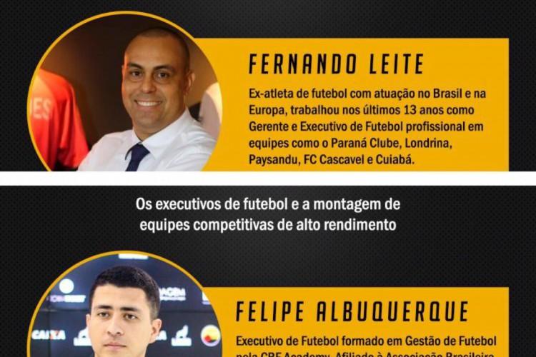 Fernando Leite e Felipe Albuquerque são confirmados em painél do FutForum 2020 (Foto: DIVULGAÇÃO/FUTFORUM)