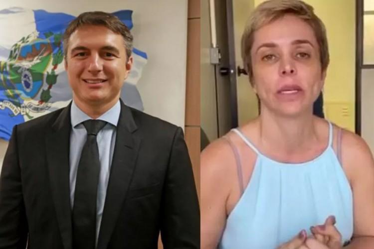 Pedro Fernandes e Cristiane Brasil foram presos na Operação Catarata em 11 de setembro (Foto: Reprodução )