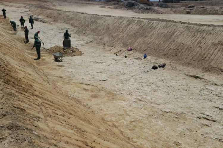 A obra é executada pela Sohidra com supervisão da Secretaria dos Recursos Hídricos (Foto: Divulgação/Governo do Ceará)