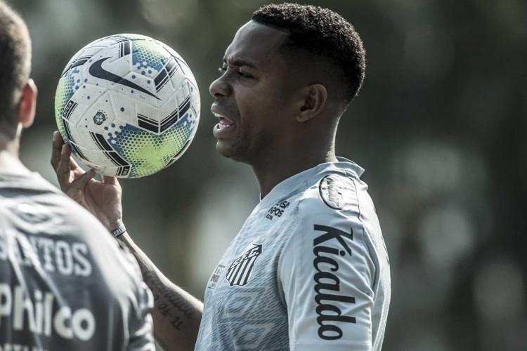 Atacante Robinho em treino do Santos FC (Foto: Ivan Storti/Santos FC)