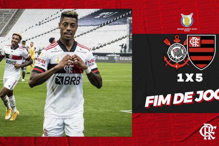 Flamengo massacra Corinthians no Itaquerão, com vitória de 5 a 1 (Foto: )