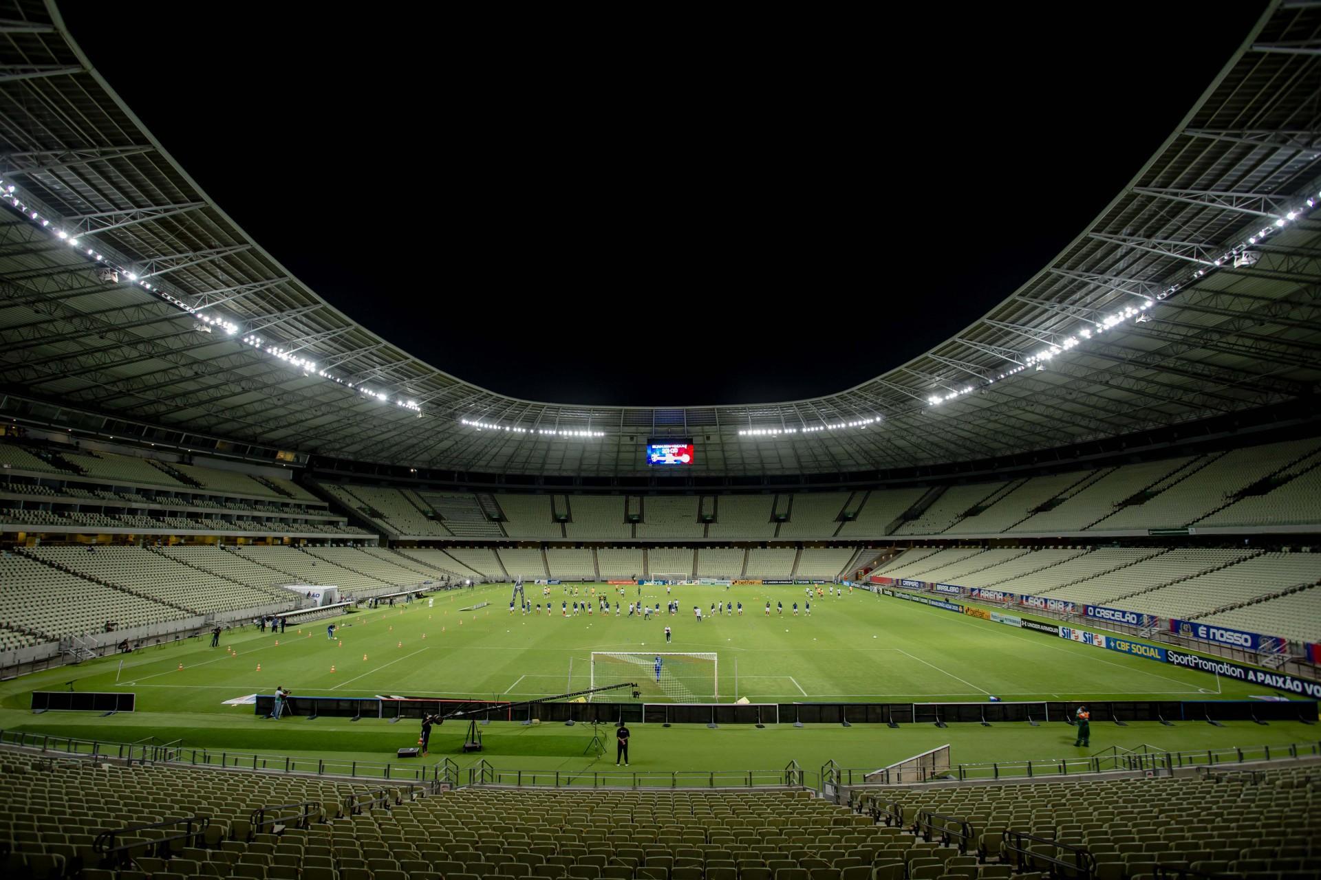 Ainda sem público, Castelão vai receber dois jogos do Cearense neste fim de semana