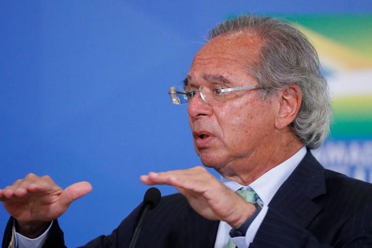 """""""No mesmo período em que os Estados Unidos demitiu 33 milhões de pessoas, o Brasil preservou 11 milhões de empregos"""", disse Guedes durante evento.  (Foto: Alan Santos/PR)"""