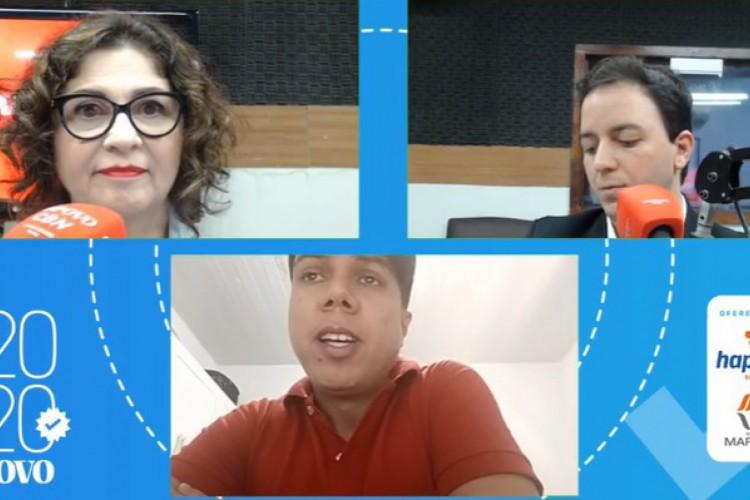 Participaram da sabatina os jornalistas Maísa Vasconcelos e Raone Saraiva (Foto: Reprodução)
