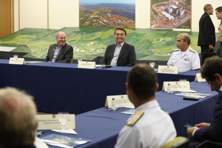 O Presidente .Jair Bolsonaro, visitou, na manhã desta quarta-feira (21) as instalações do Centro Tecnológico da Marinha (CTMSP), em São Paulo.. (Foto: Marcos Corrêa/PR)
