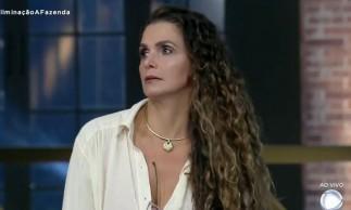 Luiza Ambiel foi a menos querida pelo público e se tornou a sexta eliminada de A Fazenda 2020 após roça com Mc Mirella e Mateus Carrieri