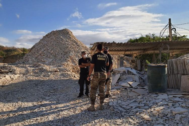 Equipes da PF na Operação Santana Raptor, na Chapada do Araripe