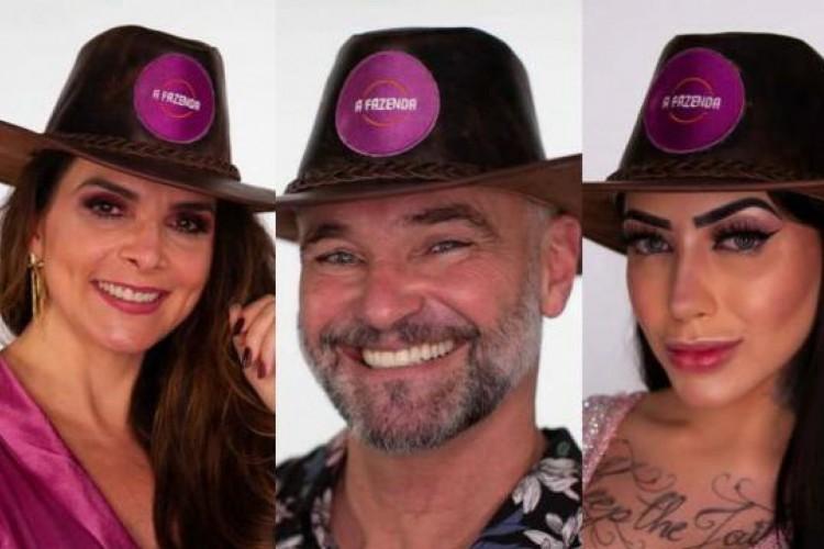 ENQUETE A FAZENDA 2020: MC Mirella, Luiza Ambiel e Mateus Carrieri estão na roça; VOTE (Foto: Divulgação/Record)
