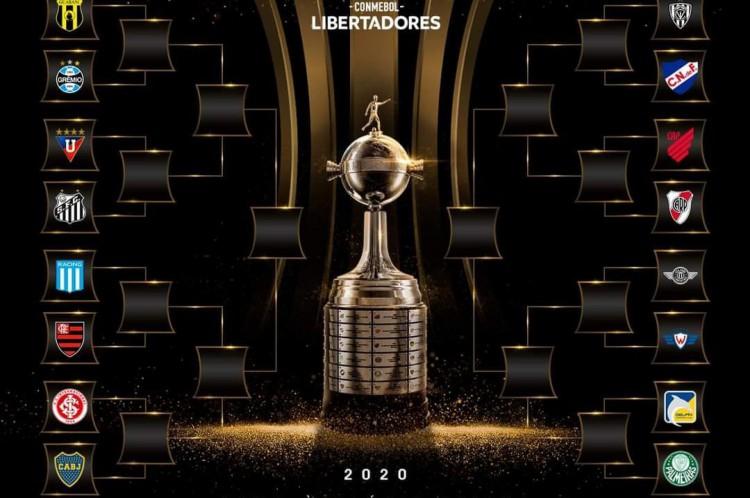 Chaveamento de oitavas de final da Libertadores de 2020