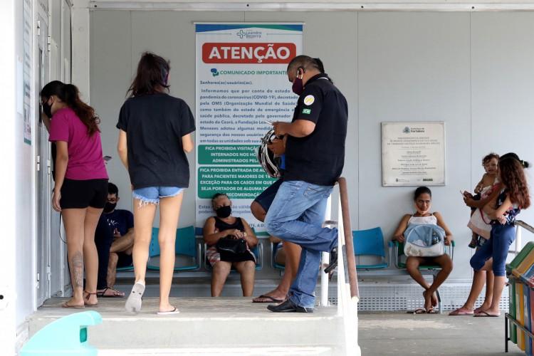 UPA do bairro Vila Velha em Fortaleza (Foto: FÁBIO LIMA/O POVO)