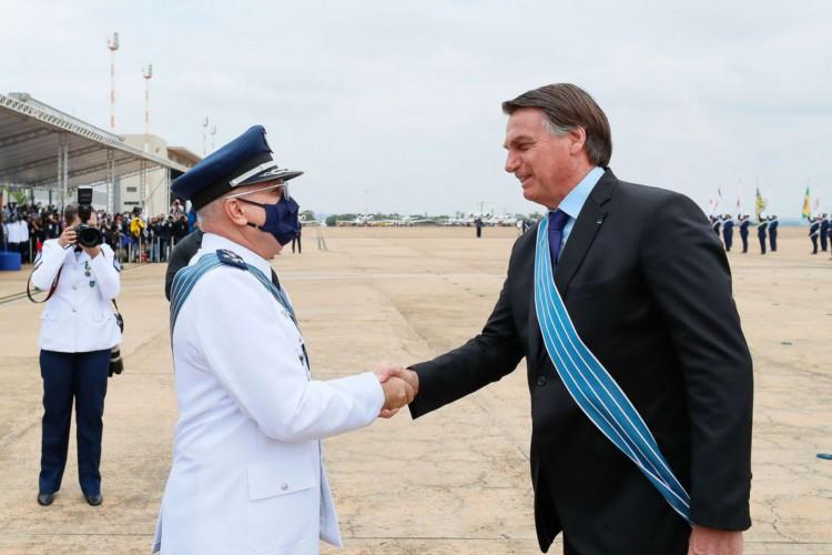 (Brasília - DF, 23/10/2020) Comemoração do Dia do Aviador e da Força Aérea Brasileira..Foto: Isac Nóbrega/PR (Foto: Isac Nóbrega/PR)