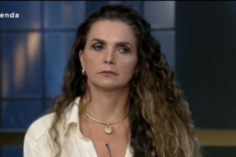 Ambiel foi a sexta eliminada do reality (Foto: Reprodução/Record TV)