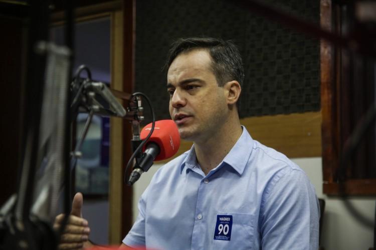 FORTALEZA, CE, BRASIL, 23.10.2020: Sabatina com os candidatos a Prefeitura de Fortaleza. Capitão Wagner (foto: Thais Mesquita/O POVO) (Foto: Thais Mesquita)
