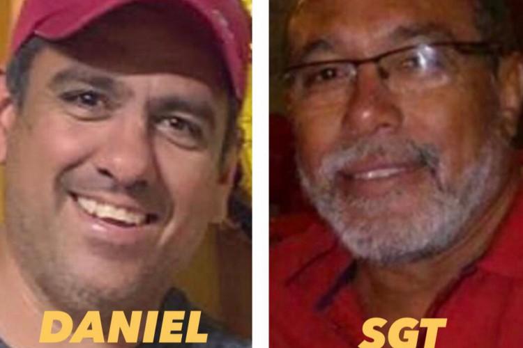 O empresário Daniel Cortez e o 1o sargento da reserva da PM, Juscelino Araújo Chaves foram mortos nesta quinta, 22,em Maranguape (Foto: O POVO/ via Whatsapp)