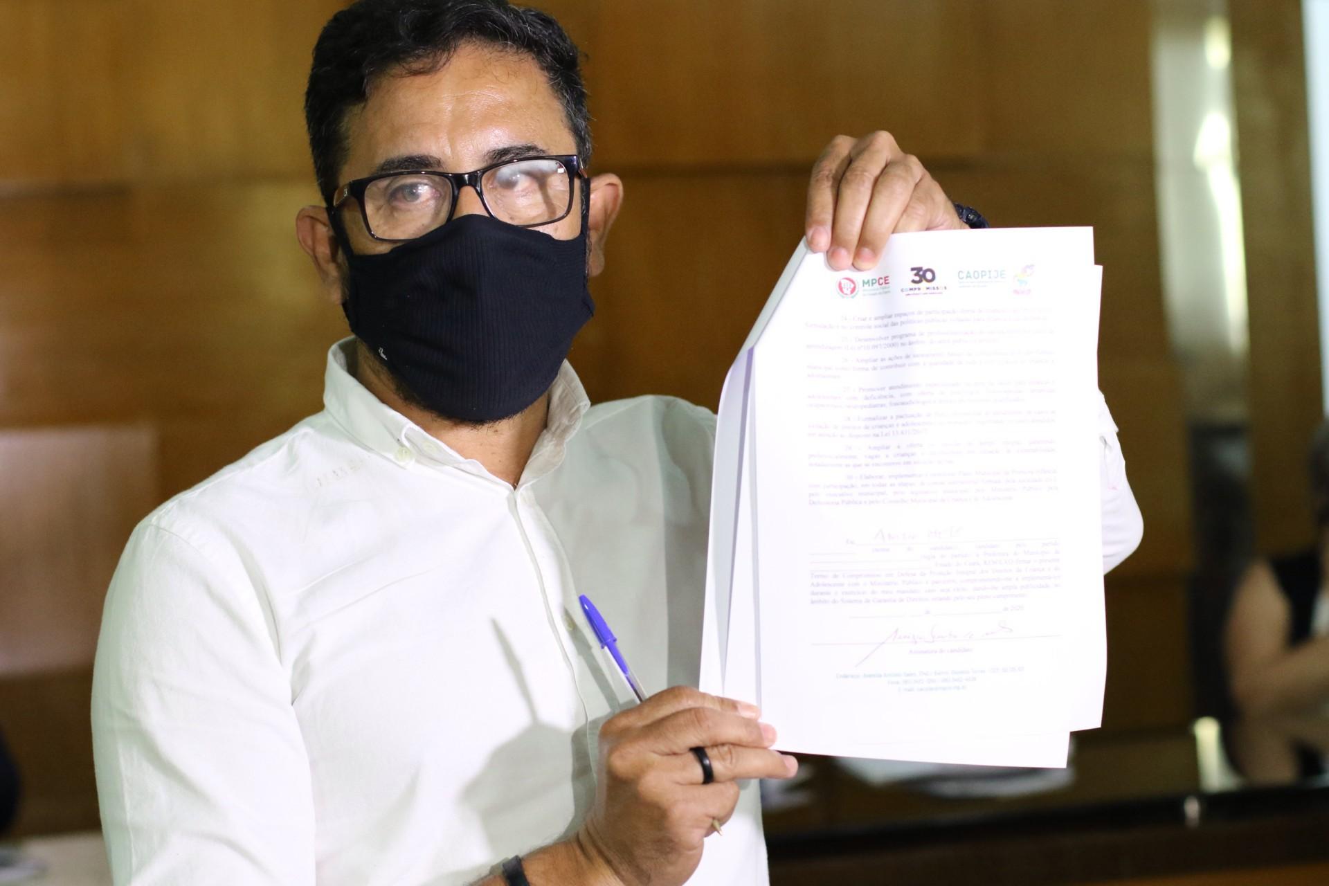 .Anizio Melo, PC DO B, apresentará propostas ao plano de governo de Sarto (Fabio Lima/O POVO)