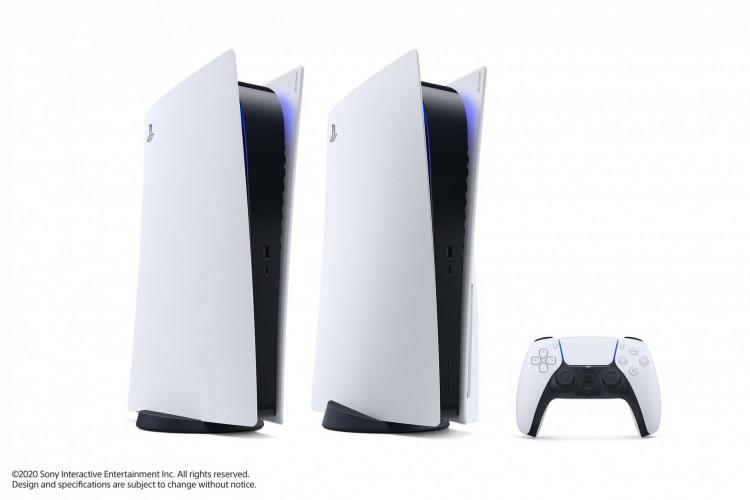 PlayStation 5, da Sony, será lançado no final deste ano com preços, no Japão, de aproximadamente R$ 2.100 para a versão sem entrada para disco e R$ 2.700 para o modelo com leitor de mídia física; no Brasil, os valores são de R$ 4.499 e R$ 4.999, respectivamente (Foto: Divulgação/Sony)