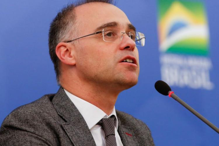 (Brasília - DF, 10/06/2020) Palavras de André Mendonça, Ministro da Justiça e Segurança Pública..Foto: Anderson Riedel/PR (Foto: Anderson Riedel/PR)