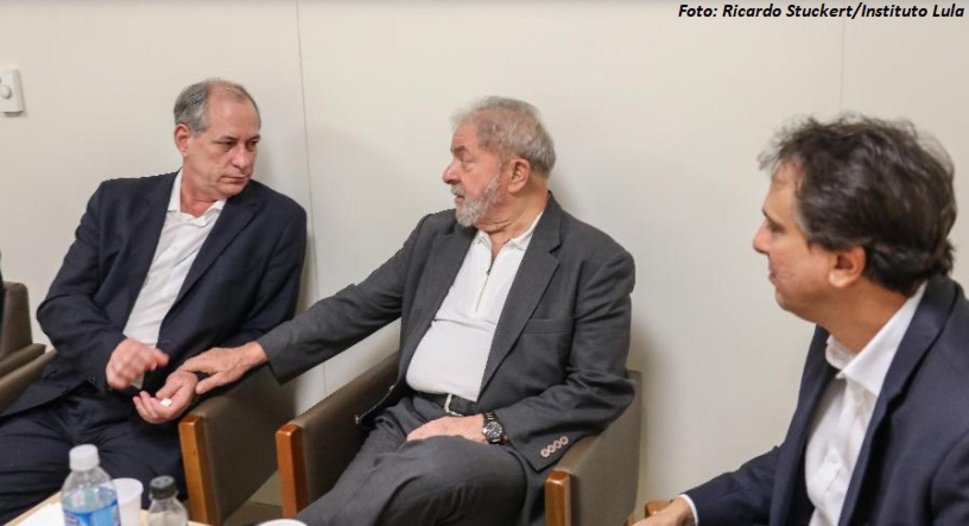 GOVERNADOR mediou encontro entre Ciro e Lula ano passado (Foto: Ricardo Stuckert/Instituto Lula)